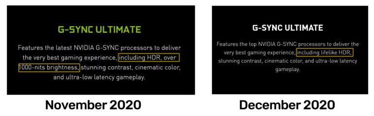 NVIDIA втихаря понизила требования, необходимые для сертификации мониторов G-Sync Ultimate