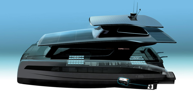 Volkswagen совместно с Silent Yachts разработает электрическую яхту на платформе VW MEB c солнечными панелями и дизайном от Cupra