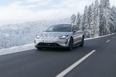 Sony начала тестировать на публичных дорогах Европы концепт электромобиля Vision-S, представленный год назад [видео]