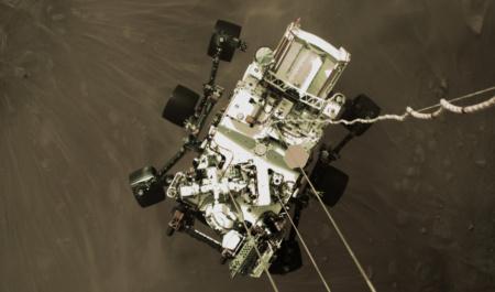 NASA показало видео высадки Perseverance