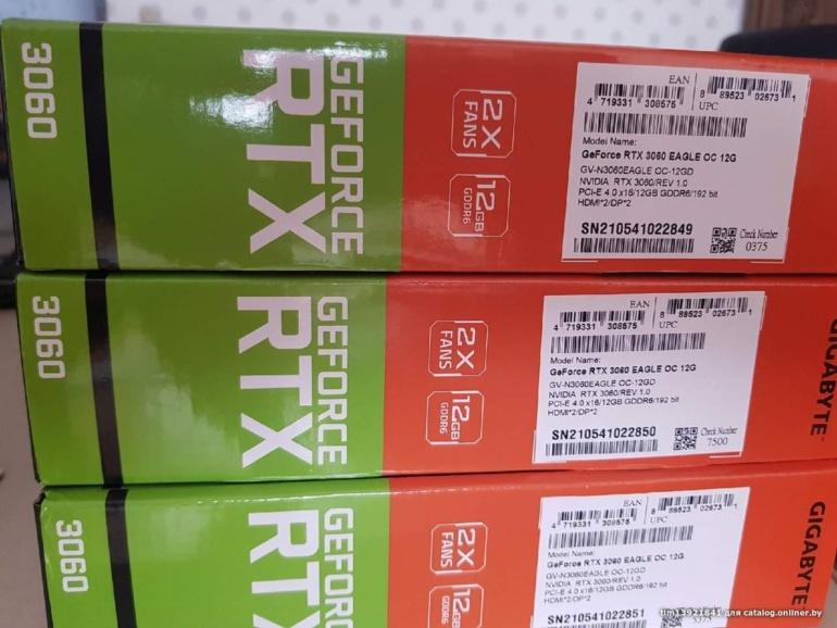 Видеокарта NVIDIA GeForce RTX 3060 ещё до официального анонса уже продаётся на вторичном рынке по цене $1080