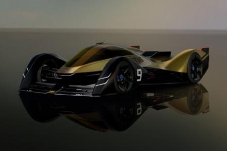 Британцы показали концепт гоночного электромобиля Lotus E-R9 с четырьмя электродвигателями, сменной батареей и изменяющим форму корпусом