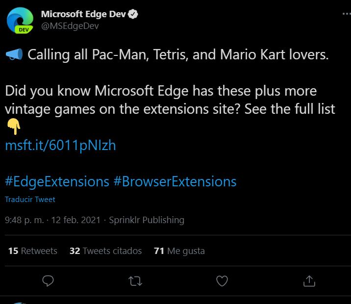 В магазине расширений Microsoft Edge размещались незаконные копии десятков популярных игр, включая Sonic, Mario Kart 64, Tetris и Minecraft