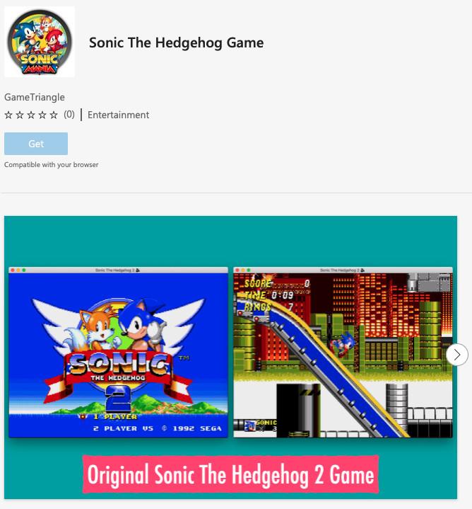 В магазине расширений Microsoft Edge размещались пиратские копии десятков популярных игр, включая Sonic, Mario Kart 64, Tetris и Minecraft
