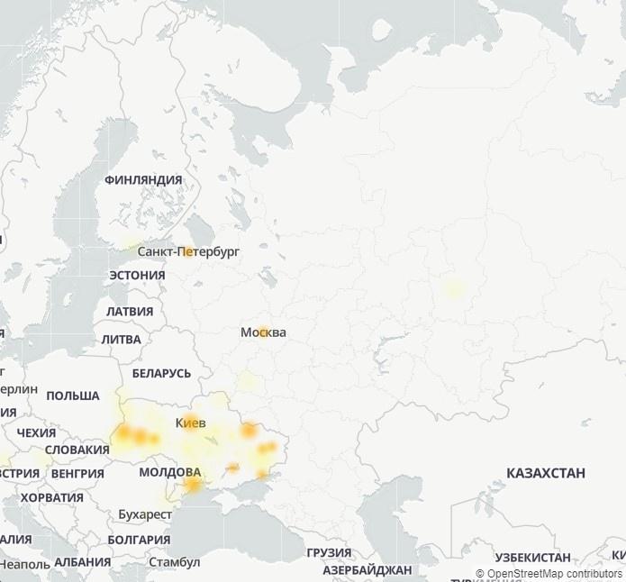 В Telegram произошёл сбой, который в основном затронул жителей Украины