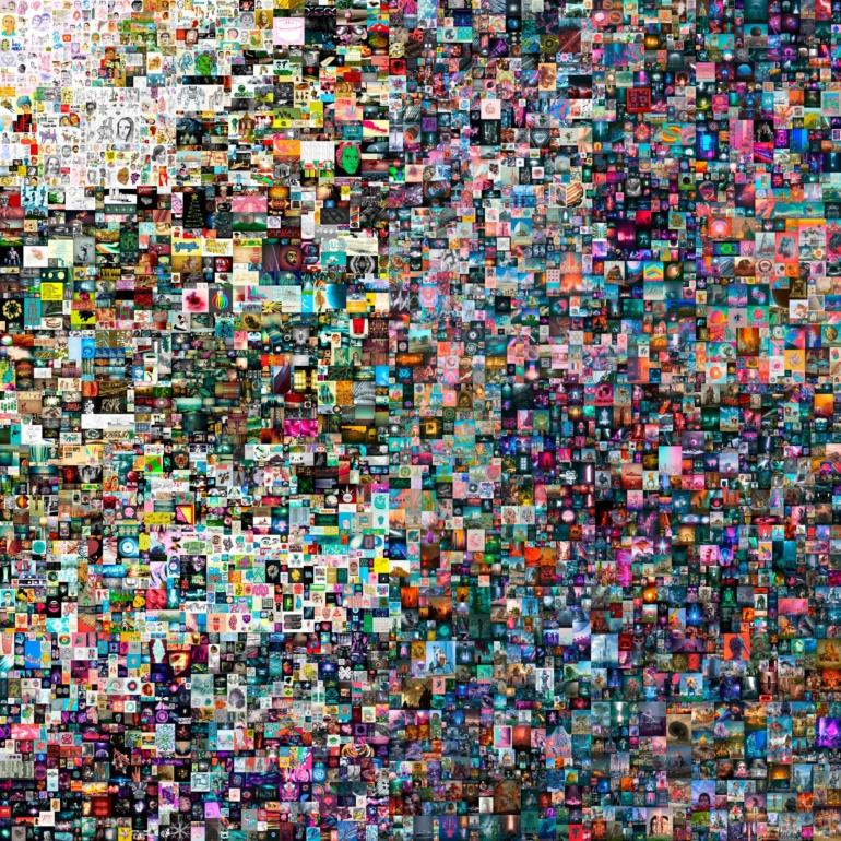 Американский художник Beeple продал JPG-коллаж своих работ в виде NFT-токена за рекордные 69 миллионов долларов