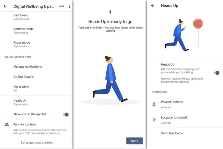 «Heads Up». Новая функция Android напоминает о необходимости на улице отрывать взгляд от смартфона