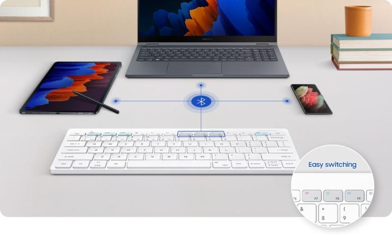 Samsung создала беспроводную клавиатуру Smart Keyboard Trio 500 с выделенной кнопкой DeX