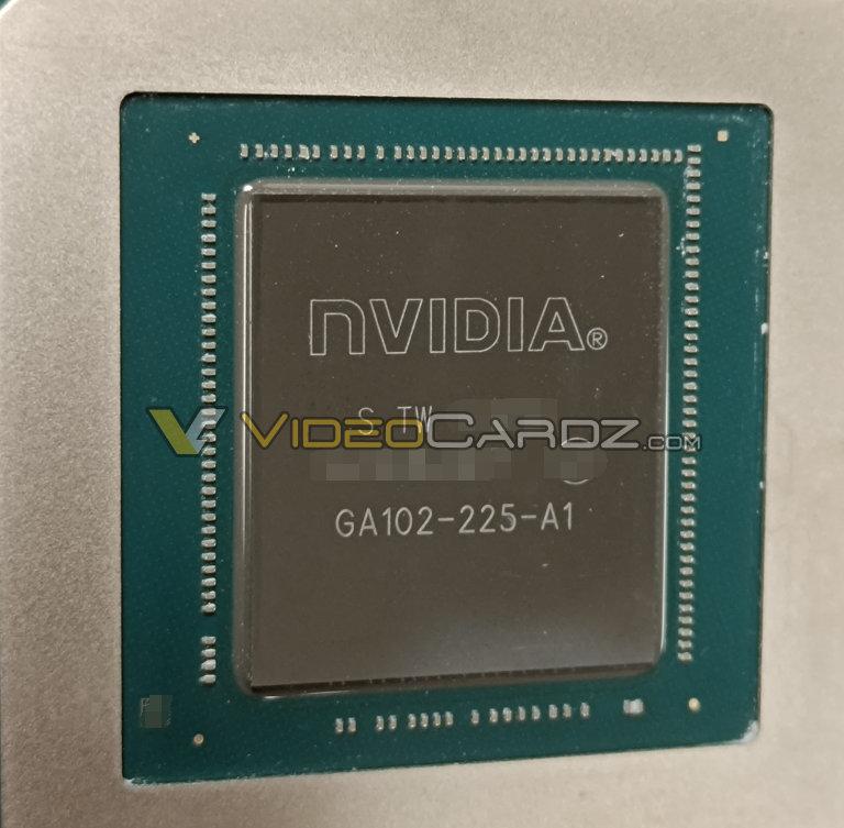 В утечке засветились фотография GPU GA102-225, характеристики и хешрейт видеокарты NVIDIA GeForce RTX 3080 Ti – 118,9 МХ/с при майнинге Ethereum