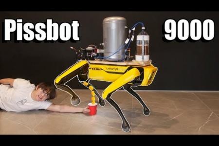 Видео: Робота-собаку от Boston Dynamics научили… «мочиться» пивом