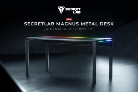 Secretlab создала компьютерный стол Magnus Metal Desk с магнитной системой менеджмента кабелей