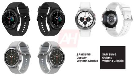 Финальные рендеры классических Samsung Galaxy Watch4 — с вращающимся безелем, в трех размерах и трех расцветках