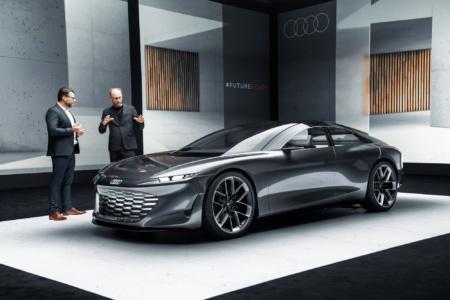Audi grandsphere — концепт электрического 5,35-метрового седана премиум-класса с мощностью 530 кВт, запасом хода 750 км и беспилотными способностями